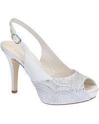 Leonardo Shoes Sandalen S2619 Satin Bianco T 2693p F Lucy - Wit