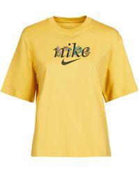 Nike T-Shirt NSTEE BOXY NATURE - Gelb