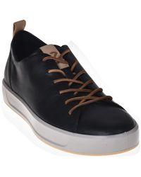 Ecco Lage Sneakers 460194 - Zwart