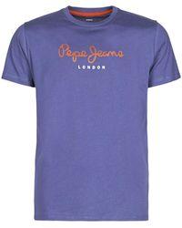 Pepe Jeans - T-shirt Korte Mouw EGGO - Lyst