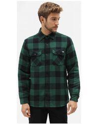 Dickies Overhemd Lange Mouw Lansdale Shirt - Groen