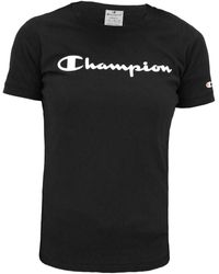 Champion - T-shirt Korte Mouw Logo Crewneck T-shirt Women - Lyst