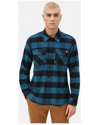 Dickies Overhemd Lange Mouw Sacramento Shirt - Blauw