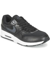 Nike - Air Max 1 Ultra 2.0 W Women's Shoes (trainers) In Black - Lyst