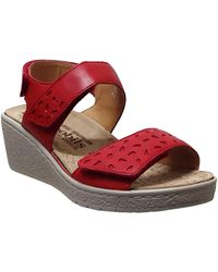 Mobils By Mephisto Penny perf Sandales - Rouge