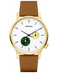 Komono Horloge - Winston Double Subs Green - Metallic