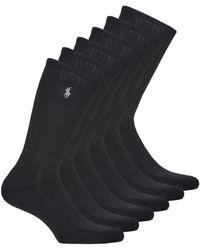 Polo Ralph Lauren Set Van 6 Sokken - Zwart
