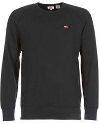 Levi's - Levis Original Hm Icon Crew Men's Sweatshirt In Black - Lyst