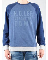 Lee Jeans Graphic Crew SWS L80ODELR Polaire - Bleu
