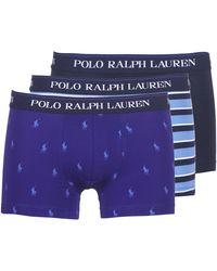 Polo Ralph Lauren CLSSIC TRUNK-3 PACK Boxers - Bleu