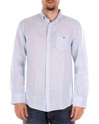 GANT 3007220 camisas hombre azul