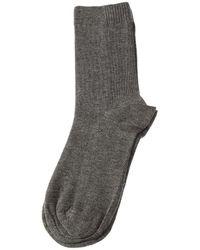 Intersocks Chaussettes Mi-Hautes - Bambou - Bamboo socks Chaussettes - Gris