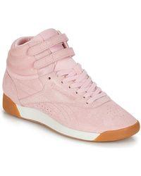 Reebok Hoge Sneakers Freestyle Hi - Roze