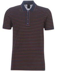 Scotch & Soda Polo Shirts Chic Polo In 2- Tone Pique Quality - Blauw