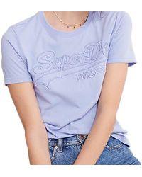Superdry T-shirt VL Outline Entry - Bleu