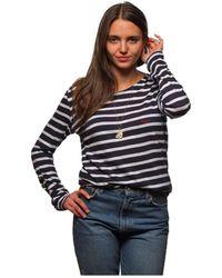 L'affaire De Rufus - Organic Cotton Round Neck Sweatshirt La Mariniere Navy Blue / W Women's In Blue - Lyst