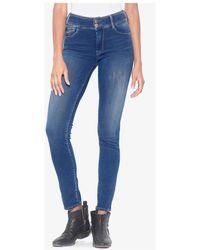 Le Temps Des Cerises Jeans skinny Jeans ultra pulp skinny taille haute bleu