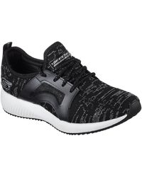 Skechers Bobs Sport Squad Glossy Finish Chaussures - Noir