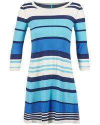 Benetton - Flemine Women's Dress In Blue - Lyst