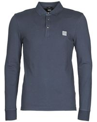 BOSS by Hugo Boss Polo Shirt Lange Mouw Passerby - Blauw