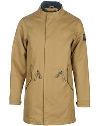 Scotch & Soda Parka Jas Long Twill Jacket With Fake Inner Caban - Naturel