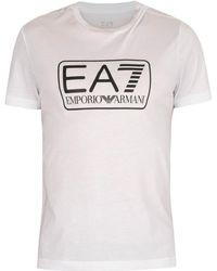 EA7 T-shirt T-shirt graphique - Blanc