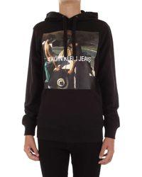 Calvin Klein Sweat-shirt J30J312449 Felpe Girocollo Homme Noir