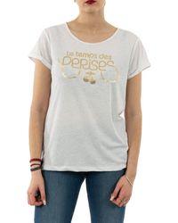 Le Temps Des Cerises T-shirt basitrame 1132 ice cream - Blanc