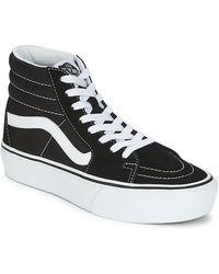 Vans SK8 Hi Sneakers, - Blanc