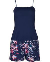Lisca Pyjama's / Nachthemden Harper Tank Top Korte Pyjama's - Blauw