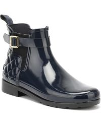 HUNTER - Original Refined Gloss Quilted Chelsea Boots - Lyst