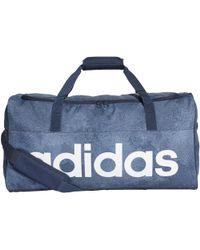 adidas - Sac en toile Linear Performance Format moyen femmes Sac de sport en bleu - Lyst