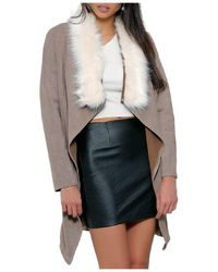 Infinie Passion - Taupe Jacket 00w059717 Women's Coat In Brown - Lyst