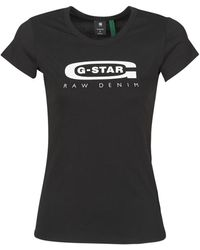 G-Star RAW T-shirt GRAPHIC 20 SLIM R T WMN SS - Noir