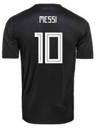 Adidas Messi Climachill Jersey M Men s T Shirt In Black in Black for ... 6ef9a2c78