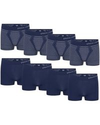 Pierre Cardin 8-pack Seamless Boxers Boxer Shorts - Blue