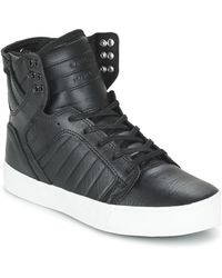 Supra - Skytop Men's Shoes (high-top Trainers) In Black - Lyst