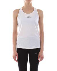Calvin Klein Camiseta de tirantes con logo - Blanco