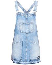 Superdry Combinaisons DENIM DUNGAREE DRESS - Bleu