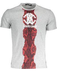 Roberto Cavalli T-shirt GST691 - Gris