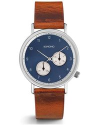 Komono Reloj analógico Walther cognac - Azul