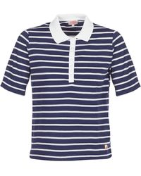Armor Lux Polo Shirt Korte Mouw Polaed - Blauw