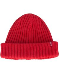 Levi S Levis Slouchy Beanie - Red Men s Beanie In Red in Red for Men ... 5c79069e29c3