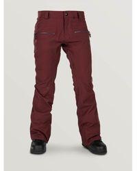 Volcom Cargohose Wo Leo9.0 Stretch Snowboard Pant - Rot