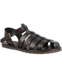 Leonardo Shoes Sandalias M5047 NERO - Negro