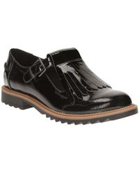 Clarks Leather Griffin Mia Womens Wide