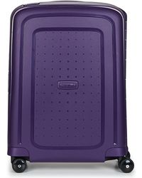 Samsonite - Spinner 55/20 Men's Hard Suitcase In Purple - Lyst