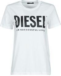 DIESEL Camiseta 00SYW8-0CATJ-100 - Blanco