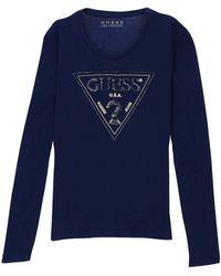 Guess T-shirts a maniche lunghe Guess. -. colore - Blu