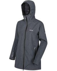 Regatta Alysio Lightweight Waterproof Long Length Walking Jacket Grey Coat